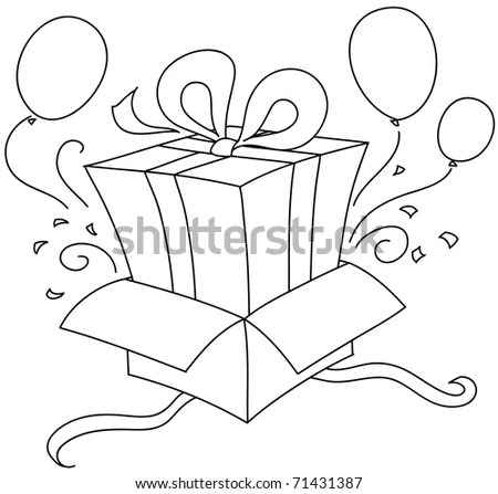Gift Box Template Butterfly Handle No Stock Vector