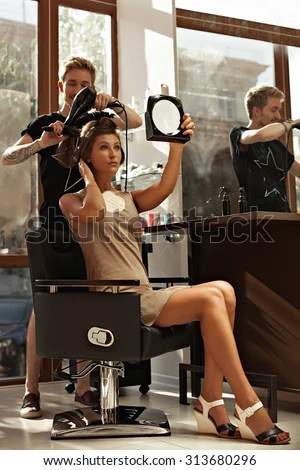 Picture Working Day Inside Beauty Sit Stock Photo