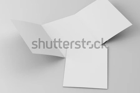 A 4 Trifold Leaflets Brochures Template 3 D Stock Illustration     A4 trifold leaflets or brochures template  3D rendering