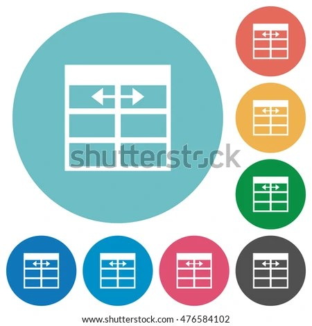 Spreadsheet Adjust Table Row Height Multi Stock Vector