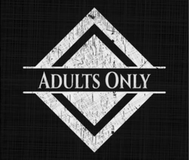 Adults Only Written On A Blackboard