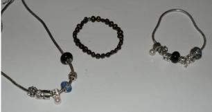 necklace and bracelets