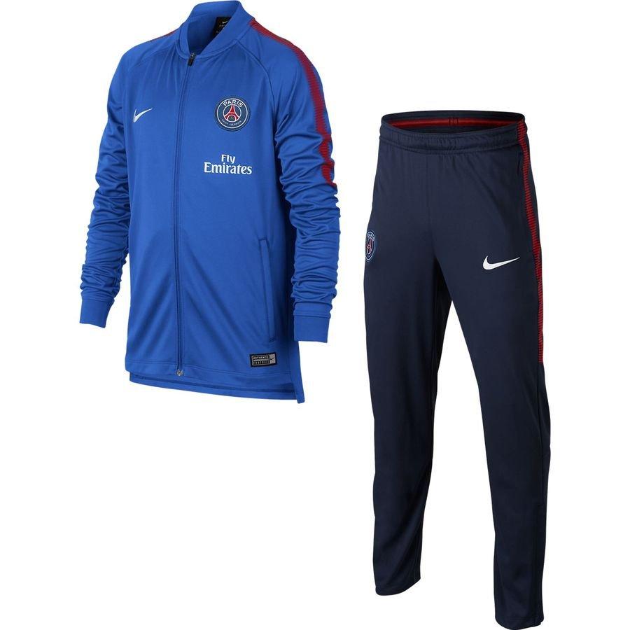 paris saint germain trainingsanzug dry squad knit blau rot weiss kinder