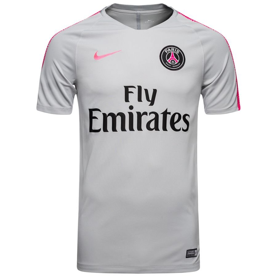 paris saint germain training t shirt breathe squad grau pink