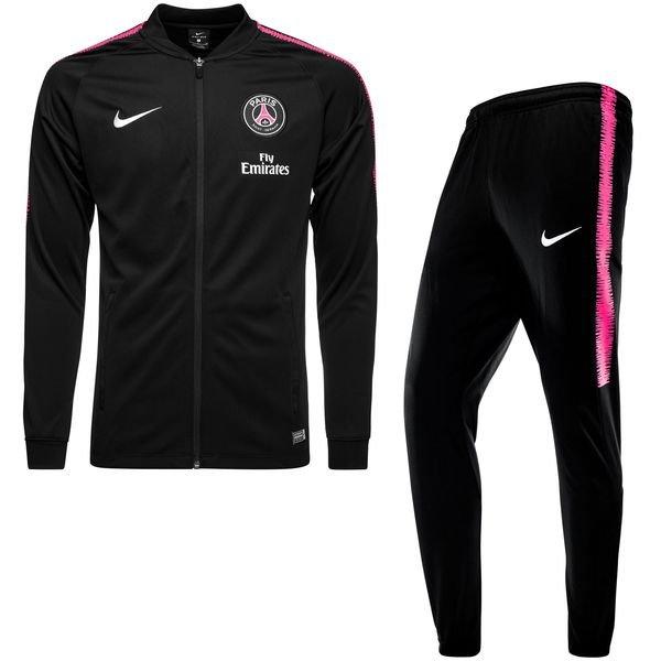 paris saint germain trainingsanzug dry squad knit schwarz pink