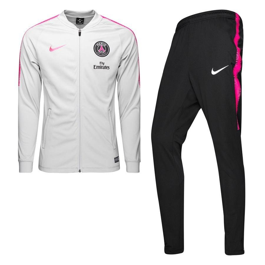paris saint germain trainingsanzug dry squad knit grau pink