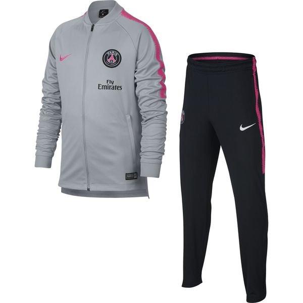paris saint germain trainingsanzug dry squad knit grau pink kinder