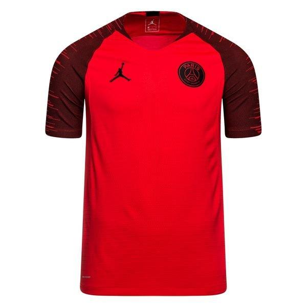 paris saint germain training t shirt strike vaporknit chl jordan x psg rot schwarz