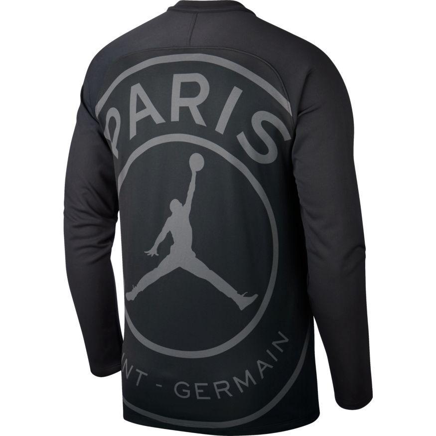 paris saint germain trainingsshirt dry squad gx chl jordan x psg schwarz weiss