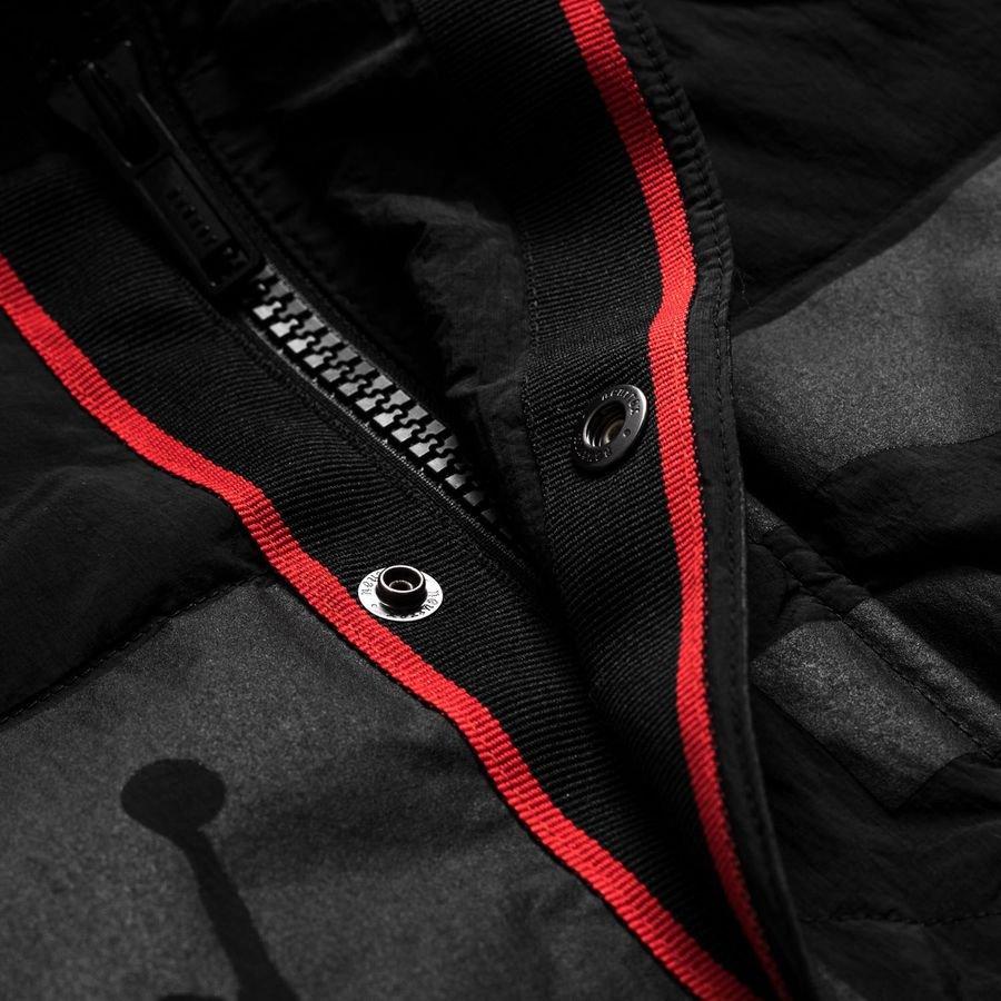 nike down jacket parka jordan x psg black limited edition