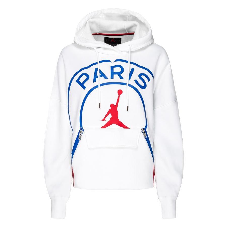 nike fleece hoodie jordan x psg weiss blau rot damen limited edition