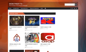 Wow Pinoy TV (Wowpinoytv.su) - Wow Pinoy TV.su