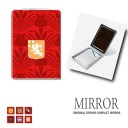 ミラー 鏡 折りたたみ [エンブレム 紋章] 卓上ミラー 化粧鏡 かがみ コンパクトミラー かわいい メイク用 拡大鏡 拡大 両面 角型 ズーム