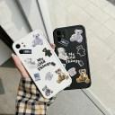 iphone11 ケース 韓国 シリコン テディベアレトロケース くま シンプル 大人 かわいい おしゃ……