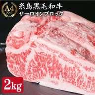 【ふるさと納税】(まるごと糸島)A4ランク糸島黒毛和牛サーロ