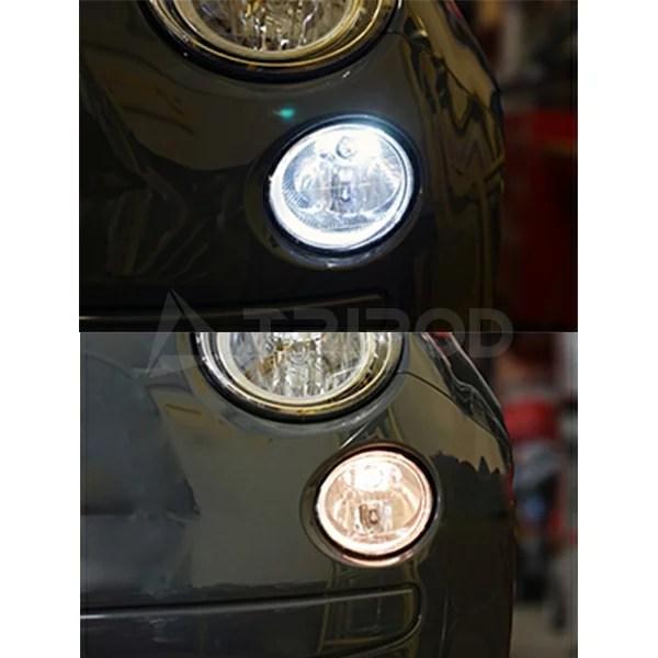 フィアット500/ アバルト LEDポジションランプ純正CDデッキ付対応