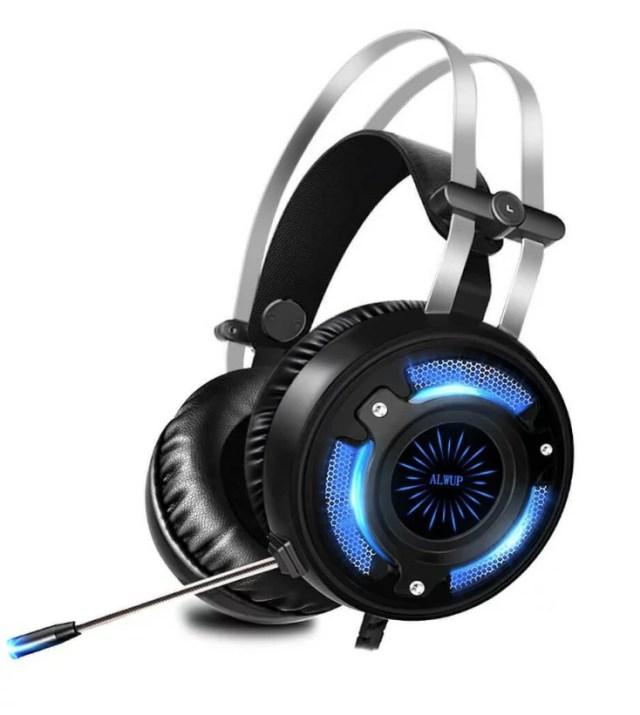 ゲーミングヘッドセット ps4 ヘッドセット ゲーム用ヘッドホン 高音質 密閉型 ヘッドセット 眩しい7色LED搭載 3.5mm コネクタジャック マイク 音量調節機能付き 耐摩素材