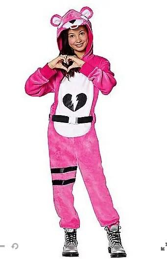 ピンクのクマちゃん コスチューム フォートナイト Fortnite ゲーム ジュニア キッズ 子供 ハロウィン コスプレ イベント 衣装