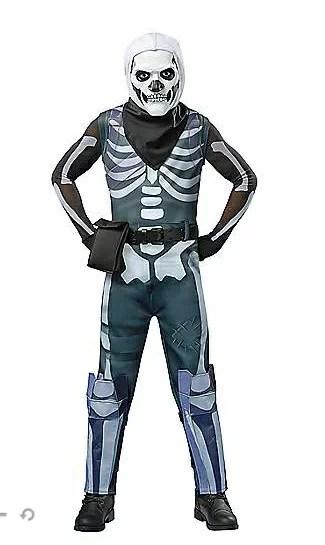 スカルトルーパー コスチューム フォートナイト Fortnite ゲーム ジュニア キッズ 子供 ハロウィン コスプレ イベント 衣装