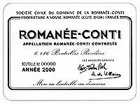 1981 DRCロマネコンティ Romanee Conti