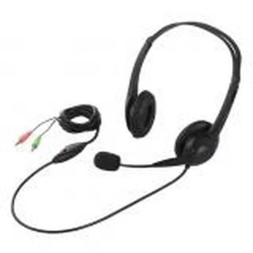 ヘッドセット 両耳ヘッドバンド式 半密閉タイプ ノイズ低減 ブラック BSHSH07BK BUFFALO バッファロー お取り寄せ