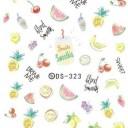 ウォーターネイルシール パステルフルーツ【DS-323】 【メール便可】ネイルステッカー フルーツ サマー