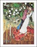 【アートポスター】3本のキャンドル (40cm×50cm) -シャガール-