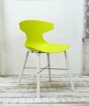 座面高45cm ビビッドなグリーン色のダイニングチェア イタリア製 デザイナーズチェア グリーン色の特徴的なデザインの椅子 オシャレな..
