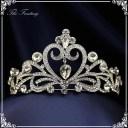 ティアラ 結婚式 キュービックジルコニア 王冠 ウエディング ティアラ ブライダル tiara 髪飾り ft8015sr
