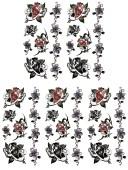 (ファンタジー) TheFantasy タトゥーシール タトゥーシール 薔薇 ht08012 【小型・5枚セット】
