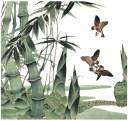 (ファンタジー) TheFantasy タトゥーシール タトゥーシール 竹 鳥 20cm mqg09 【大型・A4】