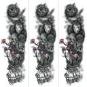 (ファンタジー) TheFantasy タトゥーシール タトゥーシール 肩から手首 髑髏 薔薇 tqb007【特長・3枚セット】