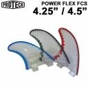 """[送料無料] ショートボード用フィン PROTECK FIN [プロテック フィン] POWER FLEX FCS 4.25"""" 4.5"""" トライフィンセット パワーフレ.."""