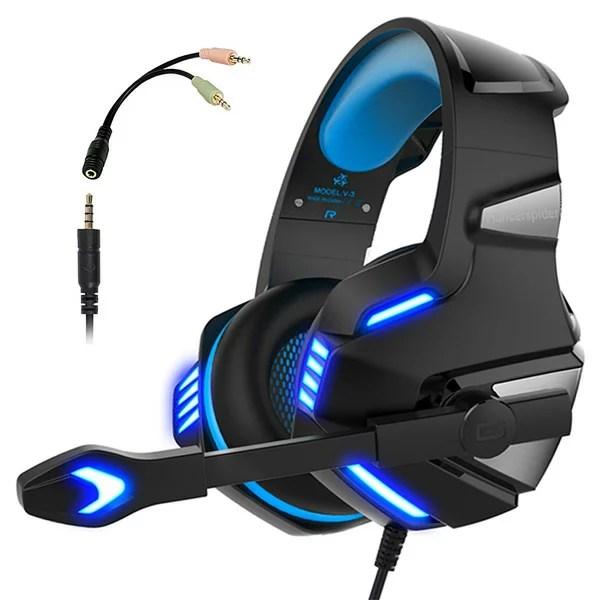 Micolindun / Gaming Headset (Blue) - PS4 / MAC / PC 対応ゲーミングヘッドセット 直輸入品