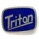 トライトン ビンテージ ピンバッジ ネイビー/シルバー Triton Vintage Pin Navy/Silver
