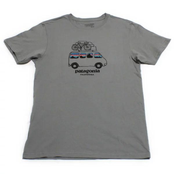 海外限定 パタゴニア フィッツロイ サーフバン LW コットン Tシャツ パサデナ 灰色 PATAG