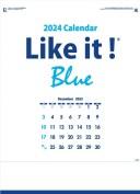 カレンダー 名入れカレンダー文字月表(Like it! Blue)90冊平成31年 2019年