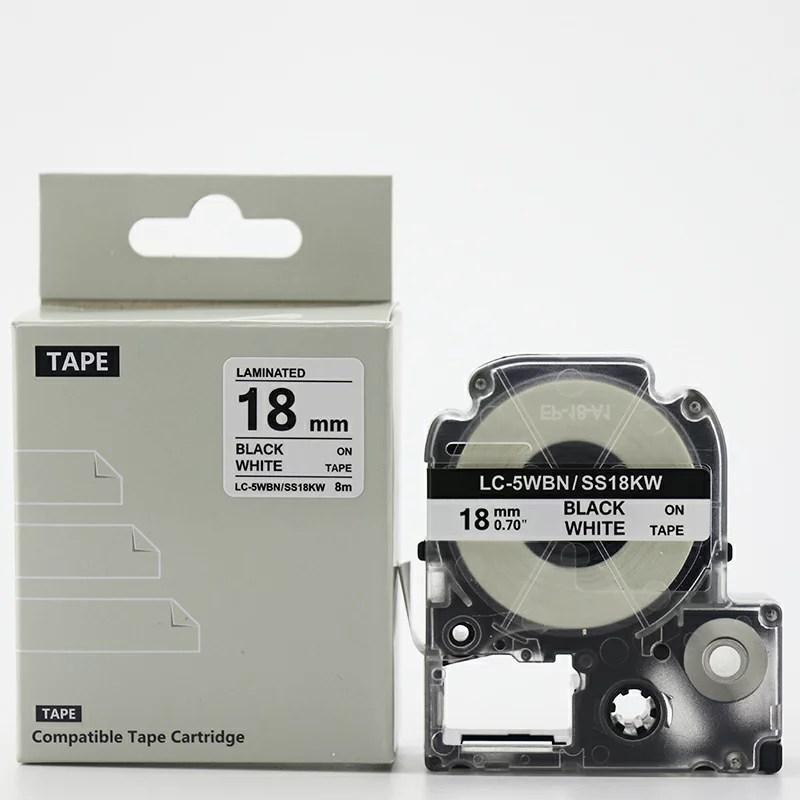 キングジム テプラ 【18mm/8m/白テープ/黒文字】送料無料! テープカードリッジ PRO 互換