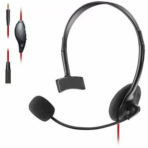 エレコム ELECOM ゲーム向け 4極 片耳オーバーヘッド 1.0m 1.5m延長ケーブル付 PS4 Switch対応 ブラック HS-GM10BK