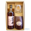 岩井トラディション ワインカスクフィニッシュ 750ml〔ギフト箱KH〕ロックグラス&クラッカーセット【□】