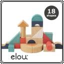 elou(エロウ) シェイプス 18P | 知育玩具 コルク製おもちゃ つみき【送料無料】【あす楽対応】★