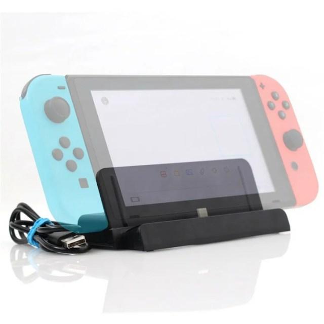 任天堂 スイッチ Nintendo Switch 対応 卓上スタンド プレイスタンド Type C 充電スタンド USBケーブル 付属 (充電スタンド+USBケーブル) 送料無料