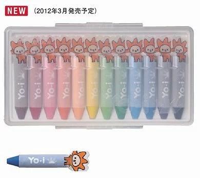 トンボ鉛筆 ヨーイ/Yo-i 水性クレヨン12色 YN-RY12C Tombow おし出すタイプ