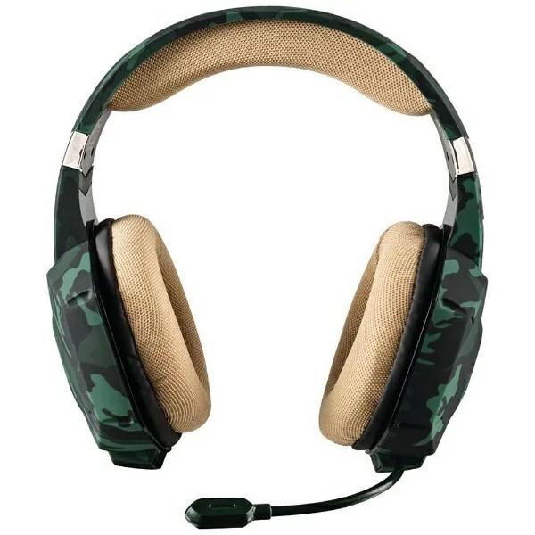 トラスト 20865 有線ゲーミングヘッドセット GXT 322C Carus Green [φ3.5mmミニプラグ /両耳 /ヘッドバンドタイプ][20865]