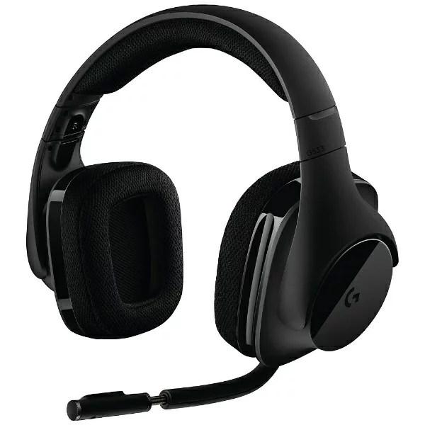 ロジクール G533 ゲーミングヘッドセット ブラック [ワイヤレス(USB) /両耳 /ヘッドバンドタイプ][G533]