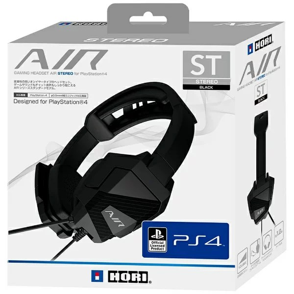 HORI ゲーミングヘッドセットAIR STEREO for PlayStation4 BLACK PS4-083[PS4]