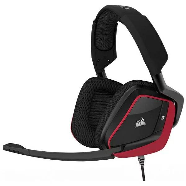 CORSAIR コルセア CA-9011157-AP ヘッドセット レッド [φ3.5mmミニプラグ+USB /両耳 /ヘッドバンドタイプ]