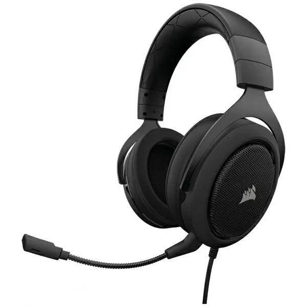 CORSAIR コルセア CA-9011173-AP ゲーミングヘッドセット ブラック [φ3.5mmミニプラグ /両耳 /ヘッドバンドタイプ]