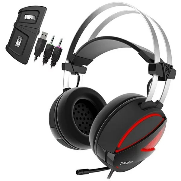 GAMDIAS ガンディアス HEBE E1 ゲーミングヘッドセット HEBE [φ3.5mmミニプラグ+USB /両耳 /ヘッドバンドタイプ][HEBEE1]