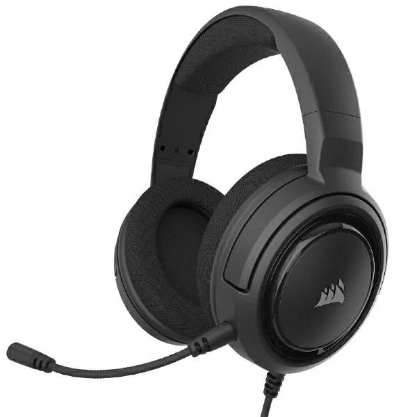 CORSAIR コルセア CA-9011220-AP ゲーミングヘッドセット HS45 SURROUND Carbon ブラック [φ3.5mmミニプラグ /両耳 /ヘッドバンドタイプ][CA9011220AP]